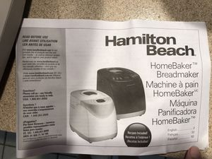 Hamilton Beach Bread Maker for Sale in Port Richey, FL