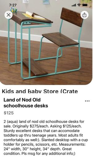 Schoolhouse desk by Land of Nod for Sale in St. Petersburg, FL