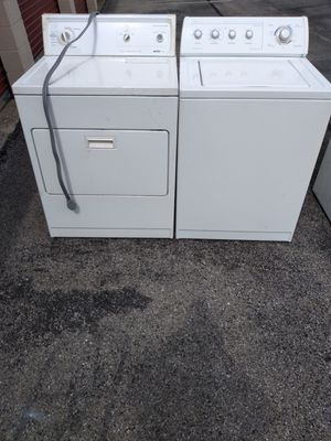 Whirlpool heavy duty washer and dryer works good 6 month warranty free delivery for Sale in Hyattsville, MD