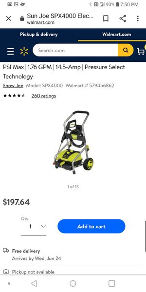 Electric pressure washer for Sale in Alexis, NC