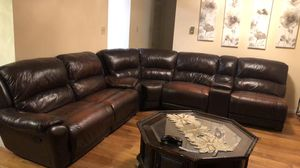 Beautiful Genuine Leather Sofa Set - $780 or Best Offer! for Sale in Annandale, VA