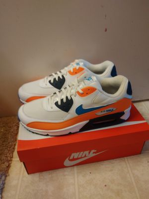 Nike Air Max 90 Essentials white orange size 11.5 men for Sale in San Leandro, CA