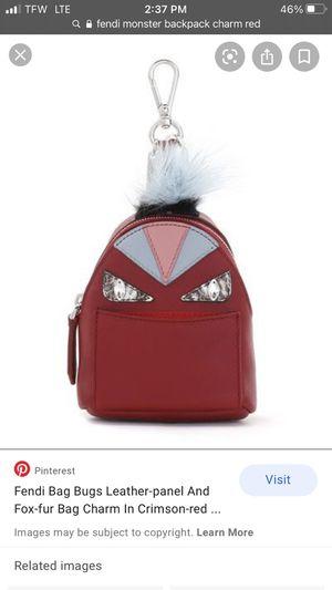 Fendi Fox Nutria Fur Sakeskin Backpack Micro Monster Bag Bug Charm Red for Sale in Seattle, WA