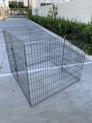 New in box 42 inch tall x 24 inches wide each panel x 8 panels steel wire exercise playpen 16 feet long fence safety gate dog cage crate kennel for Sale in Whittier, CA
