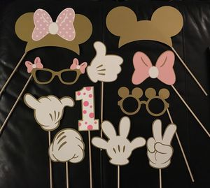 disney birthday party supplies / decor MICKEY MINNIE MOUSE photo booth props banners - hands ears MORE! for Sale in North Tustin, CA