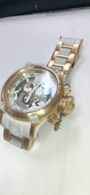 Men Invicta watch gold and white for Sale in Gambrills, MD