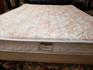 Queen Mattress with or without box spring bed frame for Sale in Lynnwood, WA