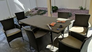 6 chair and table set-Outdoor for Sale in Corona, CA