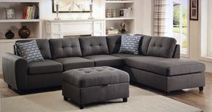 Stonesse Sectional - Gray (no ottoman) for Sale in Dallas, TX