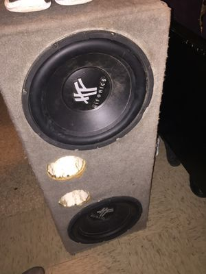 2 12inch subwoofers hifonics brand speakers for Sale in undefined