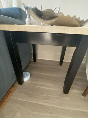 Chic modern faux marble wooden end tables for Sale in Atlanta, GA