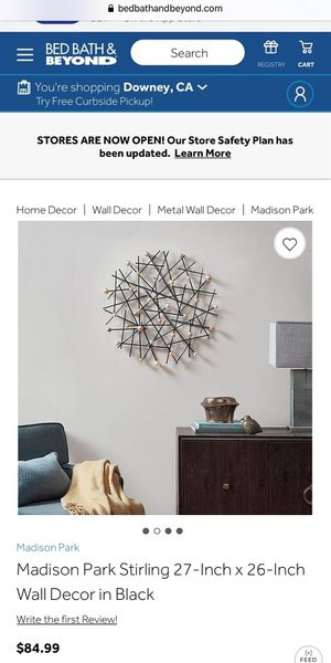 A new Wall decor in Black but damaged for Sale in Culver City, CA