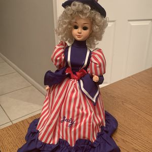 "Vintage BRINNS 1988 July Independence 13.5"" Doll Korea Blue Eyes Blonde Hair for Sale in Phoenix, AZ"