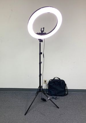 "$90 each NEW LED 19"" Ring Light Photo Stand Lighting 50W 5500K Dimmable Studio Video Camera for Sale in Montebello, CA"