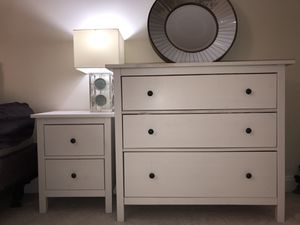 White IKEA Nightstand and Dresser for Sale in Washington, DC