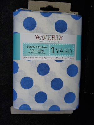 Blue and white polka dot cotton fabric for Sale in Dixon, MO