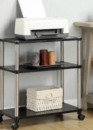 New!! Office caddy, mobile 3 shelf cart, office furniture, black for Sale in Phoenix, AZ