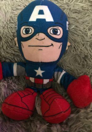 "8"" Marvels captain America stuffed animal $4 for Sale in Menifee, CA"