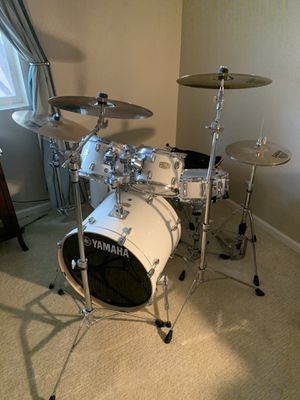 Drum Set-Yamaha Stage Custom/HW-780 with Sabian Cymbals and Throne for Sale in Scottsdale, AZ