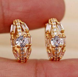 "14k Gold Filled & Zircon Huggie Hoop Earrings 5/8""Diameter for Sale in San Fernando, CA"