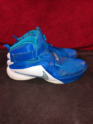 Nike Lebron Soldier IX TB Blue White Basketball Shoes 749498-401 Mens Size 17 for Sale in Dallas, TX