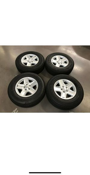 """17"""" 2020 Jeep Gladiator Sport OEM Wheels and Tires Brand New Takeoffs for Sale in Tomball, TX"""