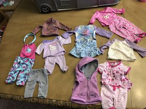 18' Doll clothes and shoes for Sale in Fort Washington, MD