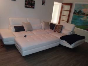 Brand new white leather couch for Sale in Orlando, FL