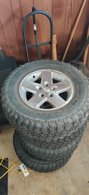 BFGoodrich Mud Terrain Tires with Jeep Wheels for Sale in Norwalk, CA