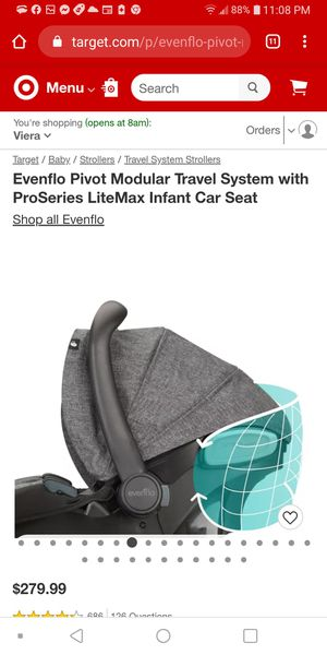 Evenflo LiteMax Infant Car Seat (Baby Car Seat) for Sale in Rockledge, FL