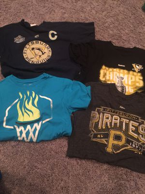 Boys large penguins pirates and underarmour for Sale in Pittsburgh, PA