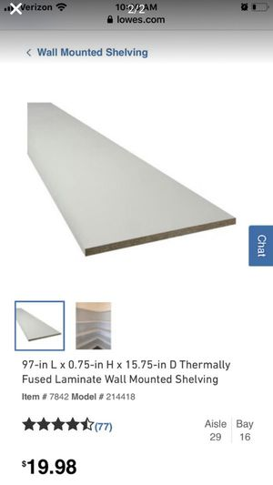 Shelving board - white laminate for Sale in Rapid City, SD