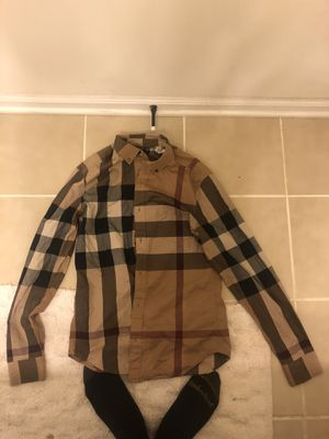 Burberry button up for Sale in Upper Marlboro, MD