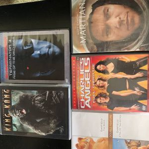 Five Movies DVDs King Kong Garfield The Martian etc for Sale in Murray, UT