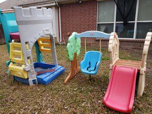 Swing Set & Castle Bundle Sale for Sale in Garland, TX