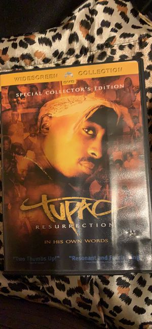 """Tupac Resurrection DVD """"In his own words"""" for Sale in Avis, PA"""