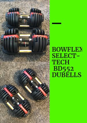 BOWFLEX BD522 SELECT-TECH DUMBBELLS BAR SET •CURLS •FLYS • SHOULDER PRESS• 2 CRADLE HOLDER CASES • PERFECT WEIGHT for Sale in Las Vegas, NV