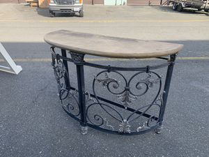 Ornate Iron Console Table for Sale in Bothell, WA