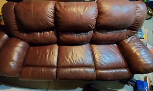Free leather recliner couch - has wear one seat for Sale in Fremont, CA
