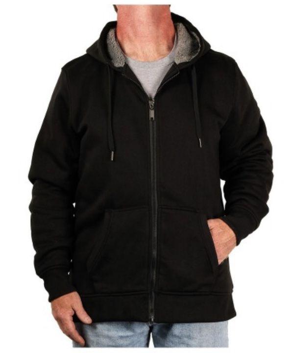 Sherpa Lined Full-Zip Hoody Winter Jacket