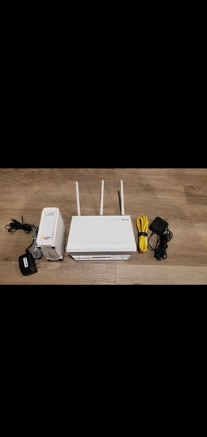 Sell the modem SB6183 and ASUS router RT-AC68W for Sale in Arcadia, CA