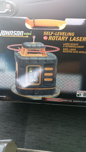 Johnson swlf-leveling rotary laser for Sale in Lansing, MI