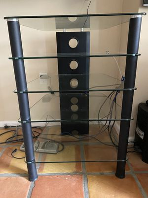 Tv equipments stand glass for Sale in Riviera Beach, FL