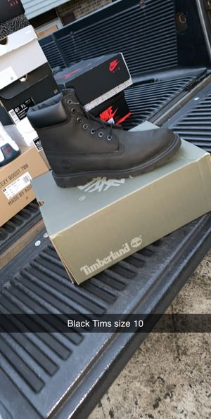 Black timberland boots size 10 for Sale in Fort Belvoir, VA