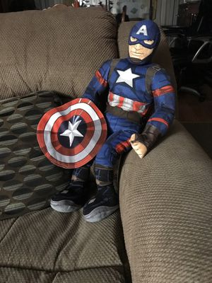Large Captain America stuffed toy . for Sale in Portland, OR