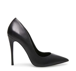 Steve Madden - Daisie Black Leather Heels - 5.5 for Sale in New York, NY
