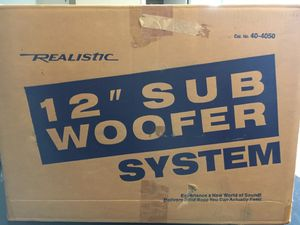 "Realistic Sub Woofer System 12"" for Sale in Mount Prospect, IL"