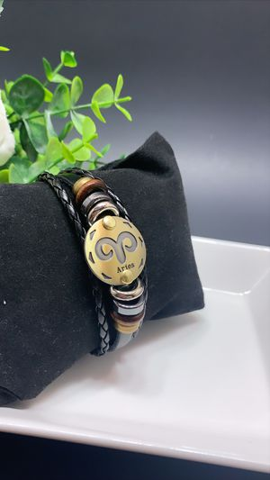 12 Constellations Multilayer Leather Bracelet, Aries for Sale in Irvine, CA