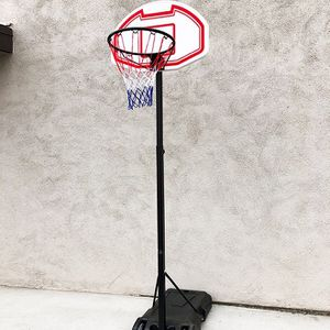 "New in box $50 Kids Junior Sports Basketball Hoop 28x19"" Backboard, Adjustable Rim Height 5' to 7' for Sale in El Monte, CA"