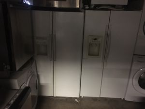 Side by side white refrigerators for Sale in Durham, NC